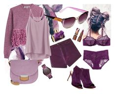 """""""Purple day"""" by fantastic-sunglasses ❤ liked on Polyvore featuring Cosabella, Etro, McQ by Alexander McQueen, Michael Kors, Via Spiga, RVCA, Teeez, Guy Laroche, Blush Lingerie and CÉLINE"""