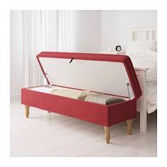 IKEA - STOCKSUND, Bank, Nolhaga dunkelgrau, schwarz, , Aufbewahrung unter der Sitzfläche mit Arretierung im Deckel zum sicheren Verstauen und Herausnehmen.Ob im Flur, im Wohn- oder im Schlafzimmer - diese praktische Bank verleiht jedem Raum Behaglichkeit.Leicht sauber zu halten - der abnehmbare Bezug kann in der Maschine gewaschen werden.Gut geschnittener Bezug aus durchgefärbtem, strapazierfähigem Baumwoll-