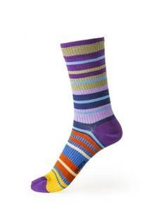 'Deck Those Toes.' Deck Chair Stripe Ankle Sock. #Fashion #IrishDesign