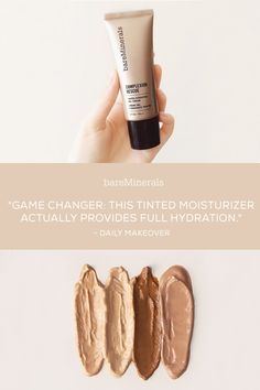 Complexion Rescue™ Tinted Hydrating Gel Cream is a multi-tasking genius that combines skincare benefits and naturally radiant coverage in one. 100% of women experienced improvement in skin texture and 215% increase in skin hydration after just one week. With SPF 30, this non-chemical, mineral based makeup product is perfect for active women on-the-go. Now available in 16 shades on bareMinerals.com