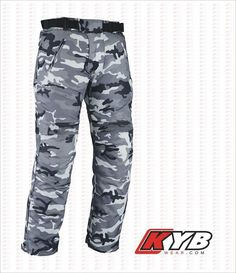 Camo Waterproof Motorcycle Motorbike Trousers Cordura CE Armoured Textile Pants