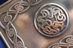 Celtic Viking Stag DEER PERYTON Etched Metal Belt Buckle