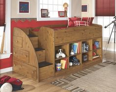 Ashley Signature Design Stages Twin Loft Bed With Left Storage Steps Bookcase Chest Dunk Bright Furniture Syracuse Liverp