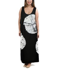 Love this Black Medallion Blouson Maxi Dress - Plus on #zulily! #zulilyfinds