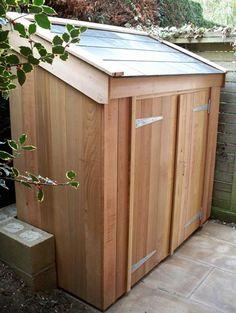 29 Super Ideas Bike Storage Shed Lean To Garden Storage Shed, Bike Storage, Storage Sheds, Garden Sheds, Diy Yard Storage, Garbage Storage, Backyard Storage, Outdoor Storage, Cabana