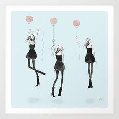 Girls Afloat by Allison Reich - fashion illustration #fashion #illustration #fashionillustration #art #drawing #prints #cute #pretty #design