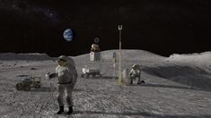 NASA plans to build a NASA Artemis base-camp in the South Pole of the Moon. In which NASA has told how she will complete her 2024 mission to go to the moon. Astronauts On The Moon, Nasa Astronauts, Richard Branson, First Female Astronaut, Donald Trump, Mission To Mars, Planetary Science, Man On The Moon, Moon Landing