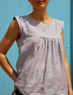 Alice Top in Liberty of London Capel Dark Blue We are very excited to be releasing our latest pattern - The Alice Dress/Top . Th...