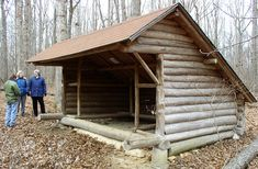 Classic one room adirondack shelter, or tent in Lakewalker terms. See - missing front wall, but if you hang a curtain of animal hides or a couple layers of heavy cloth it will keep out the cold.