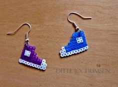 perler roller skate earrings - Google Search
