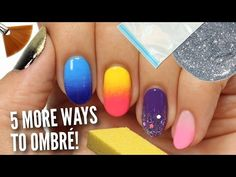 5 MORE Ways To Get Ombre / Gradient Nails! - YouTube