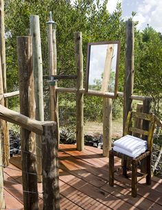 Cabin w/ outdoor shower