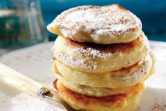 Pancakes Greek Sweets, Greek Desserts, Greek Recipes, Waffle Recipes, Brunch Recipes, Breakfast Recipes, Sweets Recipes, Cooking Recipes, Greek Pastries