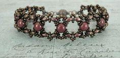 Ivy Bracelet Variation & Tara Earrings - Chocolate & Berry | Linda's…