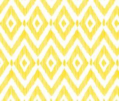 Diamond IKAT - Sunshine fabric by pattysloniger on Spoonflower - custom fabric