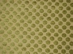 GREEN CHENILLE WITH DOTS UPHOLSTERY FABRIC-3 YD
