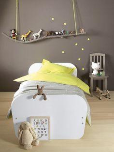 Chambre d'enfant: 90 idées pour les faire rêver. Quelle Déco vont ils choisir? # déco # décoration #chambre #enfant #fille # garçon #mixte # bébé #blanc #rose #gris #noir #beige #bleu #lit #tapis #rangement #jouets #bureau #aufeminin