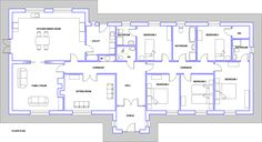 House Plans, No. Blueprint Homeplans designs are prepared by a professionally qualified Architect. All plans, elevations and sections are fully detailed for a Planning Application and construction stage. Bungalow Exterior, Bungalow House Plans, Planning Applications, Irish, Floor Plans, Houses, Fancy, How To Plan, Bathroom
