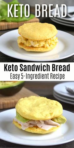 This keto sandwich bread is super easy to make and only takes 10 minutes! Healthy Low Carb Recipes, Low Carb Keto, Keto Recipes, Pasta Recipes, Cena Keto, Comida Keto, Keto Fast, Keto Bread, Pan Bread