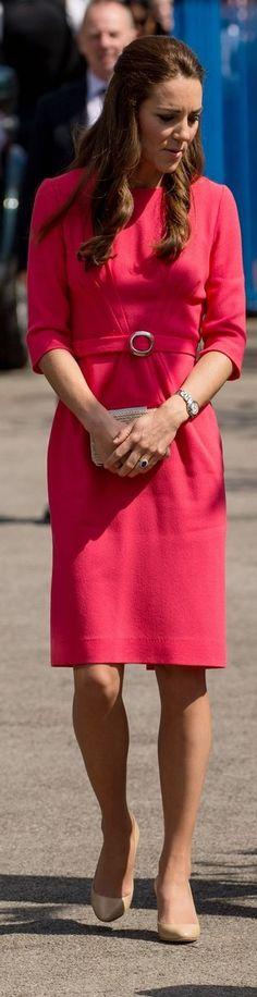 Kate Middleton in GOAT Scarlett Pleat Front Dress
