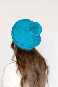 Hopeful Honey | Craft, Crochet, Create: French Pompom Beret Crochet Pattern