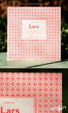 letterpers_letterpress_geboortekaartje_lars_fluor_neon_rood