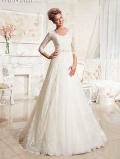 vestido de noiva Picture - More Detailed Picture about Elegant V neck Lace  Wedding Dress 2016 Half Sleeve Bridal Gowns Plus Size Formal Vestido de  noiva ... 1ecdd410624b
