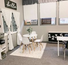 Another view of this lovely little corner 🖤 I can't wait to see my new group of graders in this space! Modern Classroom, Classroom Layout, Classroom Decor Themes, Classroom Design, Kindergarten Classroom, Future Classroom, School Classroom, Classroom Organization, Classroom Ideas