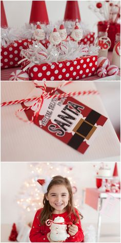 Adorable Santa themed Christmas party! Santa Tag