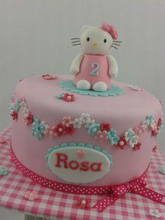 girly hello kitty birthday cake
