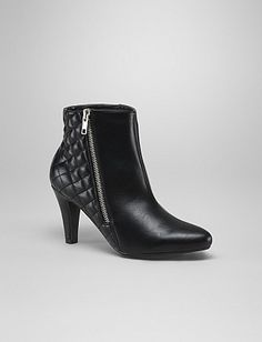 Love the combo of the smooth and quilted leather on these booties.