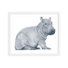 Heather Lancaster Hippo Paintings ($99) via Polyvore featuring home, home decor, wall art, ink painting, indian wall art, wooden animal figurines, wooden figure and india ink drawing