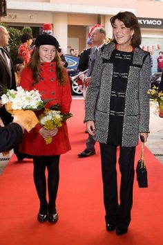 Princess Alexandra of Hanover with her mother Princess Caroline of Monaco, who is divorced from her father Prince Ernst August of Hanover.