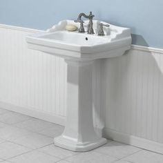1920 Pedestal Sink : ... 1920 Pedestal Combo Bathroom Sink in White Home, Pedestal and Art