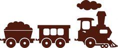 Locomotief met wagonnen