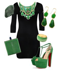 """st pattys day maybe?"" by poulinelaine on Polyvore featuring WearAll, Christian Louboutin, Judith Leiber, Argento Vivo, Amrita Singh and NARS Cosmetics"