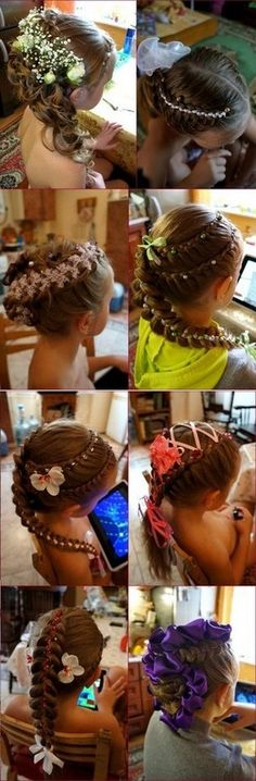 DIY Four Strand Ribbon Braid Headband Hairstyle [video]