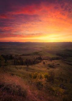 Here's a Palouse sunrise