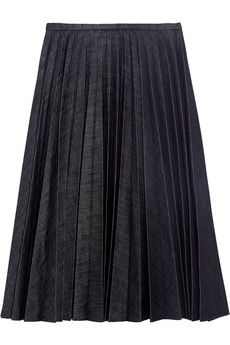 Denim Done Right with A-lines J.W.Anderson Pleated denim skirt
