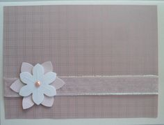 "A good example of a ""ready for any occasion"" card - good background, ribbon and flower - what could be easier?"
