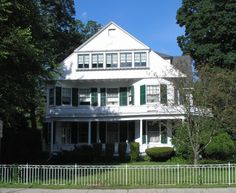 The Briggs House is an 1891 Shingle-style home on Broadway in Norwich. In 1915, it was purchased from the widow of Adam Reid by Mary Brewer Briggs and her husband, Lucius Briggs, a manager of the coal department of the Edward Chappell Company.