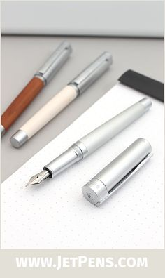 These Staedtler Initium Lignum Fountain Pens combine sleek metal with natural wood in a design that is both classic and modern.