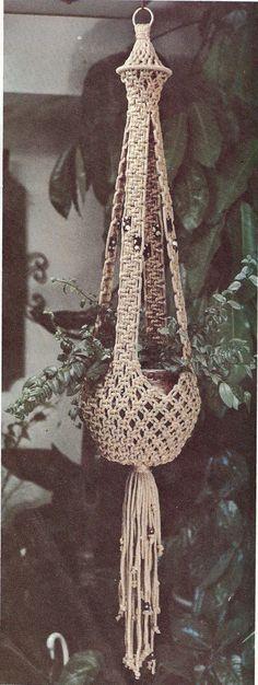 INSTANT DOWNLOAD Vintage Pattern Macrame plant hanger