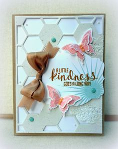 White House Stamping: Kinda Eclectic this lady does gorgeous work Bird Cards, Butterfly Cards, Hexagon Cards, Dots Candy, Stampin Up Catalog, Unique Cards, Card Tags, Stamping Up, Homemade Cards