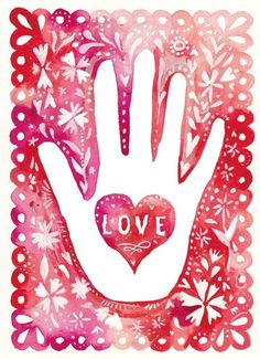 Art by Katie Daisy - Reiki with hands of light and love with Rev Leslie Love Heart, Peace And Love, Hand Heart, Symbol Hand, Was Ist Reiki, Le Reiki, Typographie Inspiration, Illustrations, All You Need Is Love