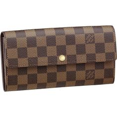 $152.44 Louis Vuitton Outlet Damier Ebene Canvas Sarah Wallet N61734 I need this bag in my life.JUST CLICK IMAGE.