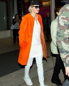 Rita Ora seen at LAX on April 10, 2014 in Los Angeles, California. #streetstyle #fashion #ritaora #smhy #lifeandstyle