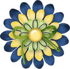"""Photo from album """"Denim And Daisies"""" on Yandex. Scrapbook Letters, Scrapbook Cards, Cute Clipart, Flower Clipart, Button Flowers, Paper Flowers, Flower Crafts, Flower Art, Flower Ideas"""