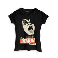 Camiseta Feminina Kiss Rock God #Kiss #TheDemon