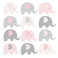 Shop Pink Chevron Elephant Nursery Fabric created by LittlePrintsParties. Personalize it with photos & text or purchase as is! Juegos Baby Shower Niño, Imprimibles Baby Shower, Baby Shower Invitaciones, Elephant Party, Elephant Nursery, Grey Elephant, Cute Elephant, Shower Bebe, Baby Boy Shower